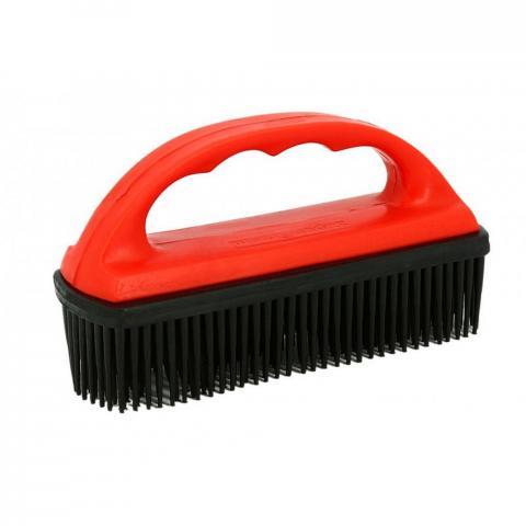 Szczotka do usuwania włosia ze sprzetu Ekkia czerwono-czarna