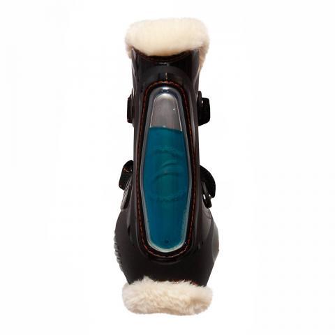 Ochraniacze z futerkiem eQuick eShock Fluffy FluidGel Velcro przód czarne