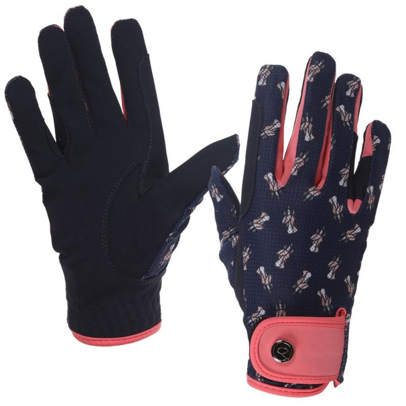 Rękawiczki QHP Sanna mesh Navy, granatowe