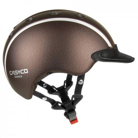Kask Casco Choice brązowy z główkami koni