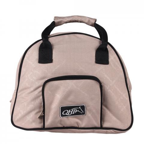 Torba na kask QHP Safety helmet bag, brushstroke, brązowa
