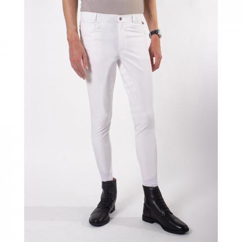 Bryczesy męskie QHP Fillip white, białe
