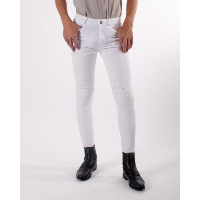 Bryczesy młodzieżowe QHP white, białe