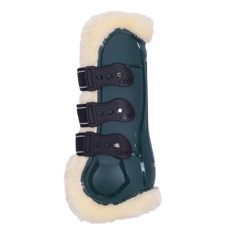 Ochraniacze z futerkiem QHP Ontario przód Dark dreen, zielone