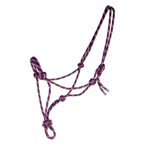Kantar sznurkowy Waldhausen fioletowo-malinowy