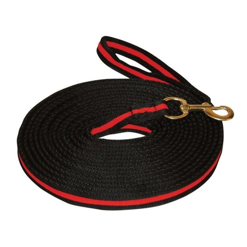 Lonża Kerbl Soft czarno-czerwona