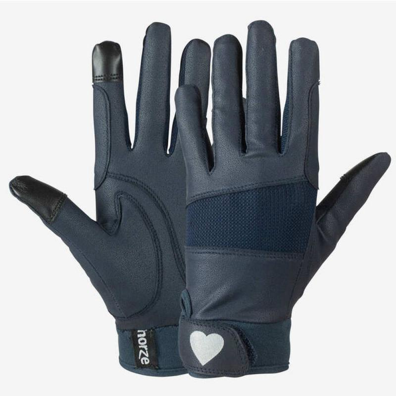 Rękawiczki dziecięce Horze Gloves with Heart granatowo-czarne
