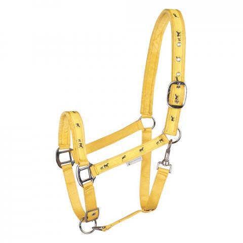 Kantar Waldhausen Horse Halter żółty z konikami