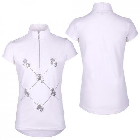 Koszulka konkursowa dziecięca QHP Lana White, biała