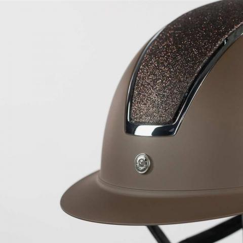 Kask Horze Monarch Metallic Glitter brązowy