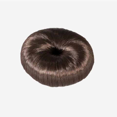 Opaska-kok do włosów Horze Donut brązowa