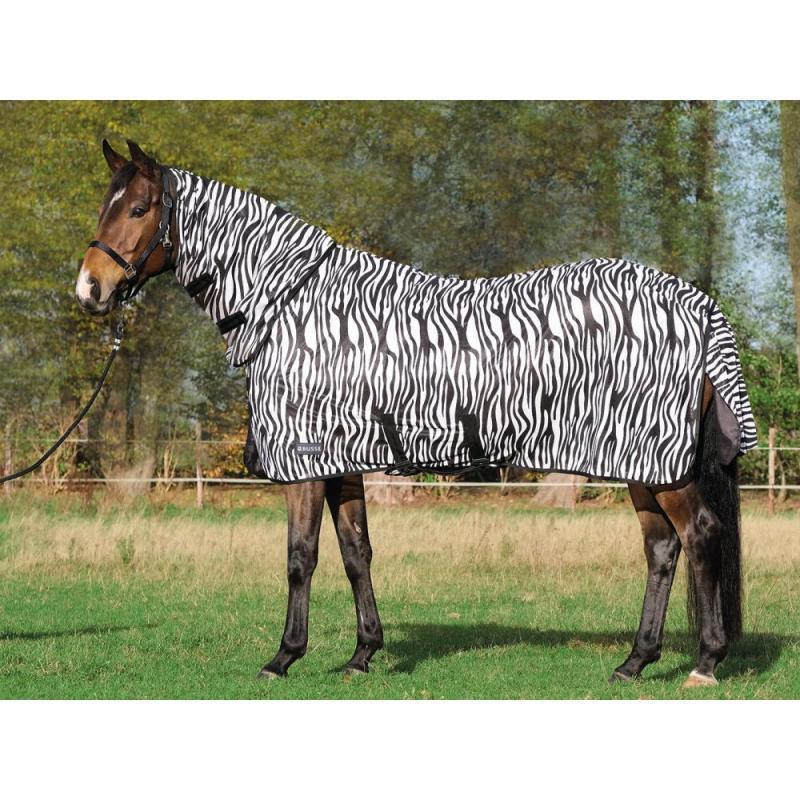 Derka siatkowa Busse Paddock COMFORT PRO zebra