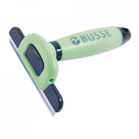 Trymer-furminator Busse z żelową rączką zielony