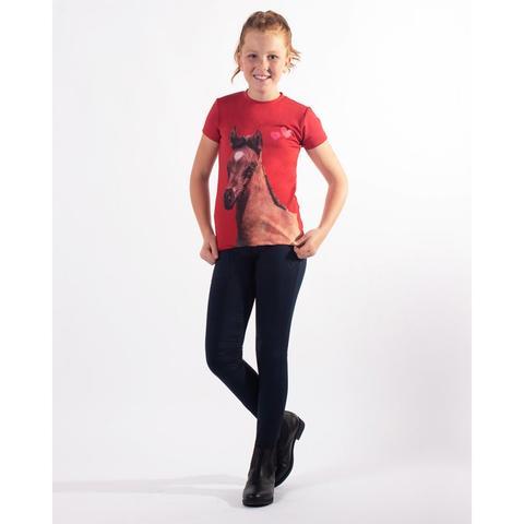 Koszulka młodzieżowa QHP Iris czerwona