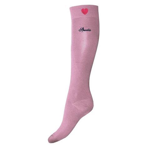 Skarpety Spooks Sox Heart Blush, różowe z serduszkiem