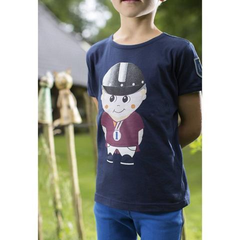 Koszulka dziecięca HKM King Clyde granatowa