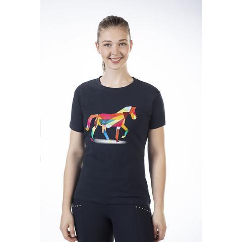 Koszulka damska HKM Colorful Horse granatowa