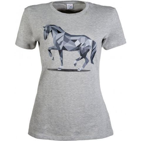 Koszulka damska HKM Graphical Horse szara