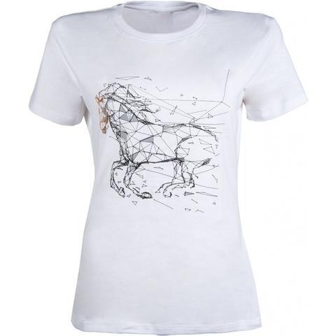 Koszulka damska HKM Geometrical Horse biała