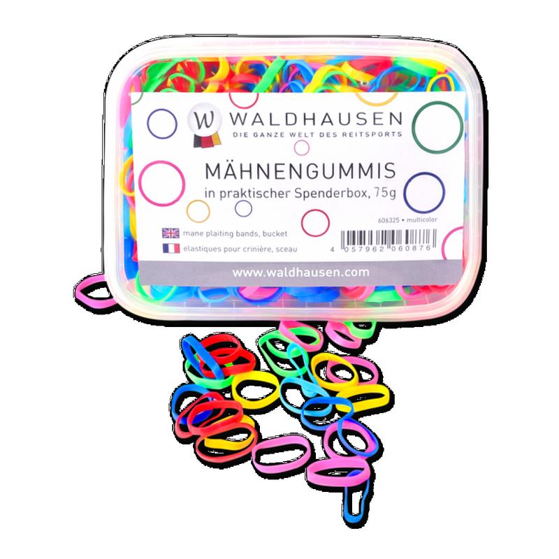 Gumki do grzywy Waldhausen w pudełku silikonowe kolorowe