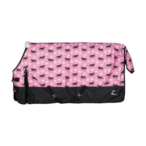 Derka padokowa Horze Tucker Pony 200g czarno-różowa