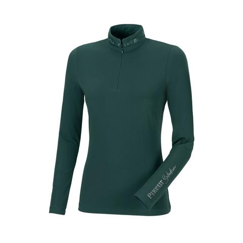 Bluzka techniczna damska Pikeur Norea Antique Green, zielona 2021