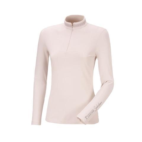 Bluzka techniczna damska Pikeur Norea Grey Violet, pudrowy róż 2021