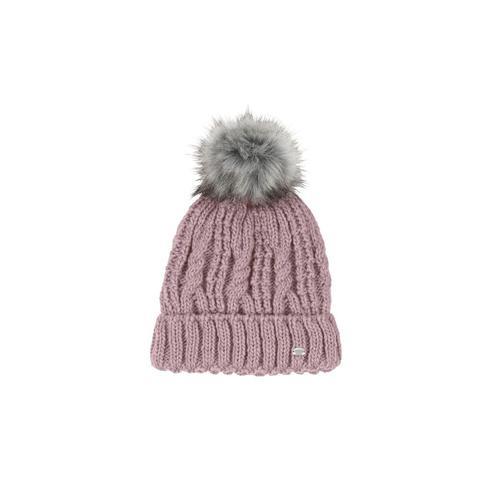 Czapka zimowa pleciona Pikeur Violet Grey, pudrowo-różowa 2021