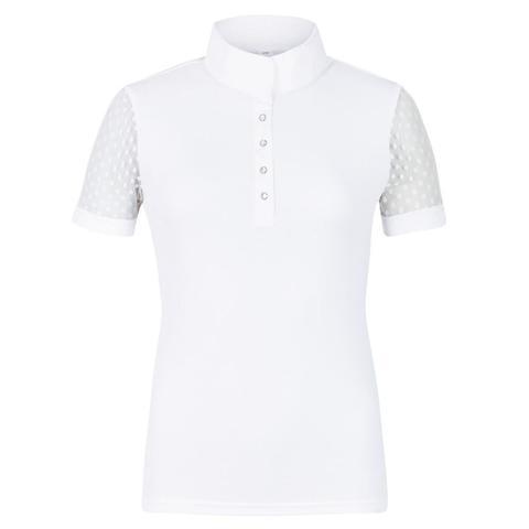 Koszulka konkursowa damska Busse Chantilly biała