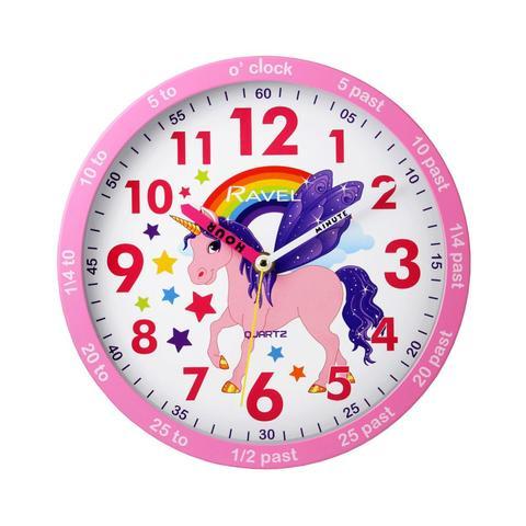 Zegar ścienny Waldhausen jednorożec różowy