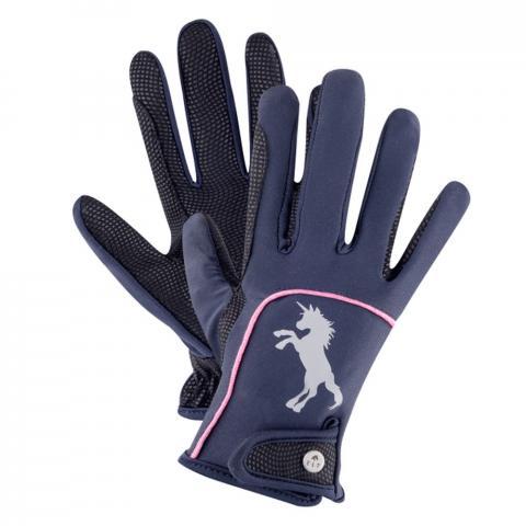 Rękawiczki dziecięce Waldhausen Metropolitan Unicorn granatowe