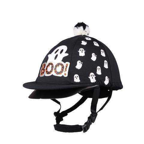 Czapka na kask QHP Halloween Ghost czarna