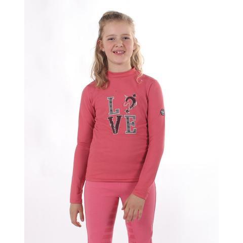 Bluzka QHP Lizz Junior Desert Rose długi rękaw, różowa