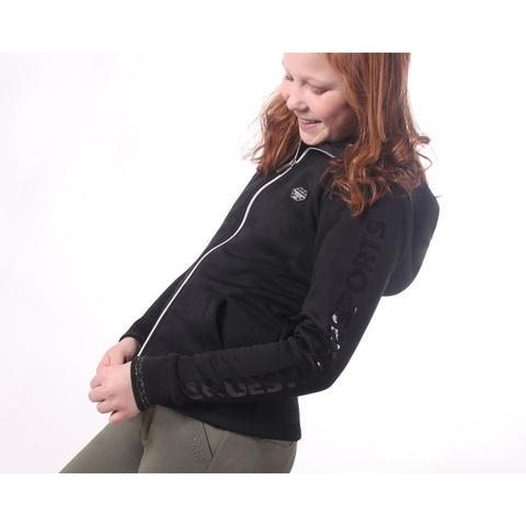 Bluza młodzieżowa QHP Vieve Junior czarna