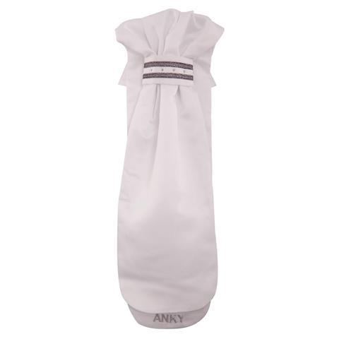 Plastron Anky biało-srebrny