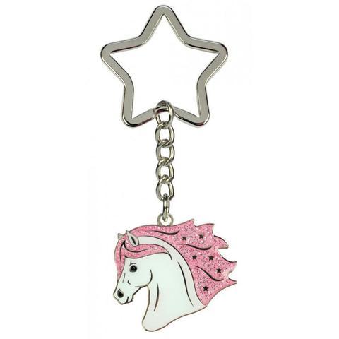Brelok Ekkia głowa konia z różową grzywą