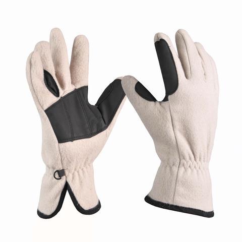 Rękawiczki polarowe Covalliero beżowe