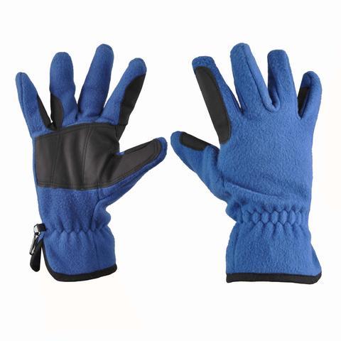 Rękawiczki polarowe Covalliero niebieskie