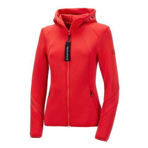 Bluza rozpinana z kapturem Pikeur Myra Scarlet, czerwona 2021