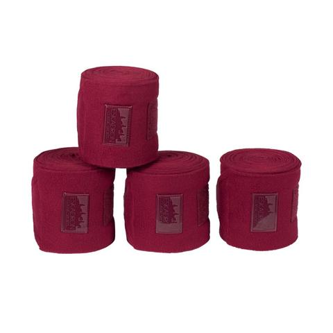 Bandaże polarowe Eskadron Classic Sports Rustic Red, bordowe 2021