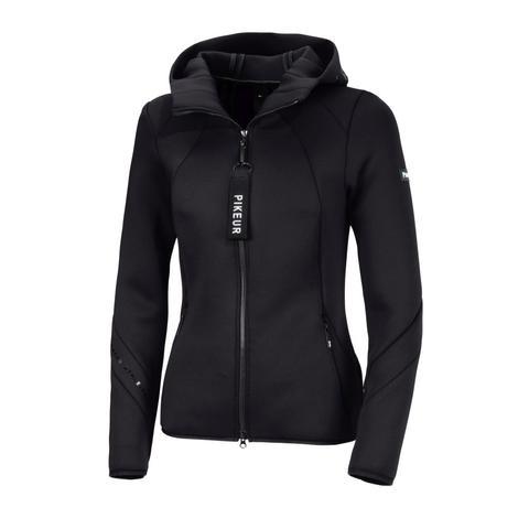 Bluza rozpinana z kapturem Pikeur Myra Black, czarna 2021