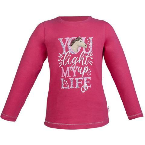 Bluzka młodzieżowa HKM Horse love z konikiem malinowa