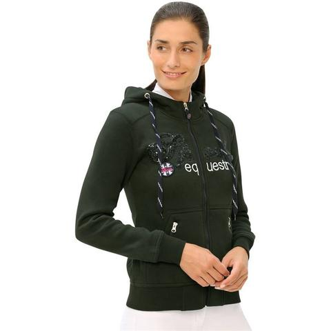 Bluza rozpinana Spooks Roxie Jacket Sequin Dark Forest, khaki