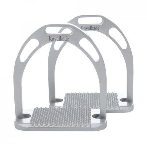 Strzemiona Kavalkade aluminiowe szerokie srebrne