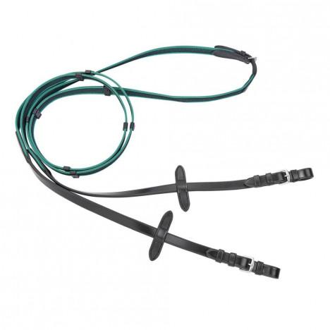Wodze Busse Antislip-Colour z gumy angielskiej zielone
