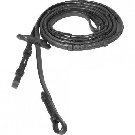 Wodze Horze miękkie gumowe ze stoperami czarne