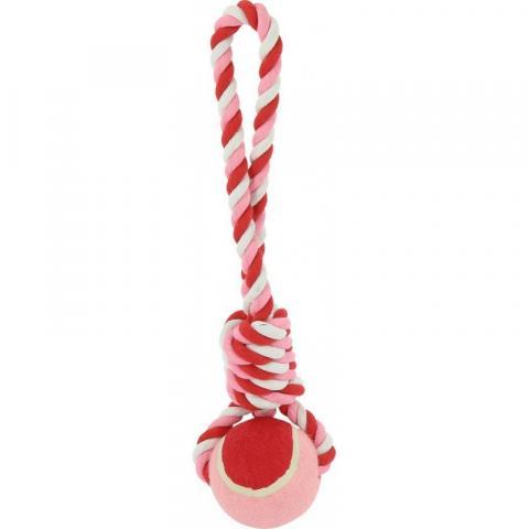 Zabawka dla psa Ekkia Diego & Luna biało-czerwono-różowa