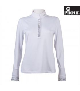 Bluzka konkursowa Pikeur długi rękaw biała