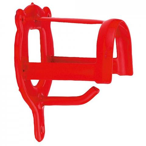 Wieszak na ogłowie Kerbl metal/plastik czerwony