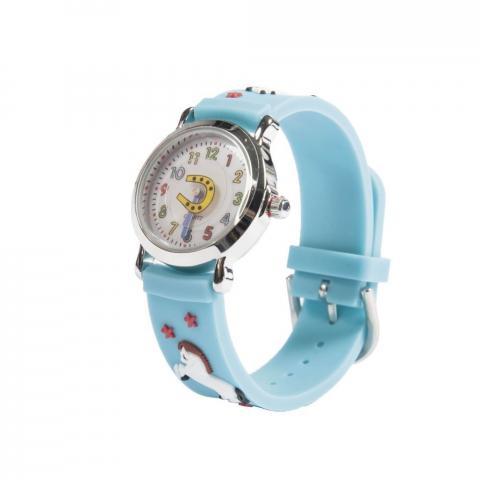 Zegarek HKM z turkusowym paskiem z konikami